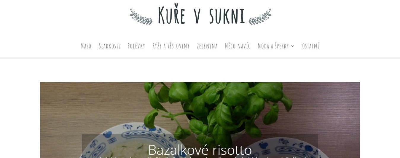 Tvorba webu pro Kuře-v-sukni.cz